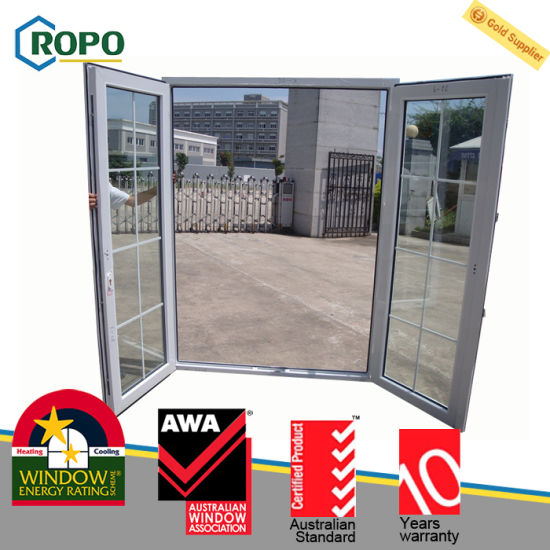 China Pvc Double Glazed Glass Door Safety Door Design With Grill