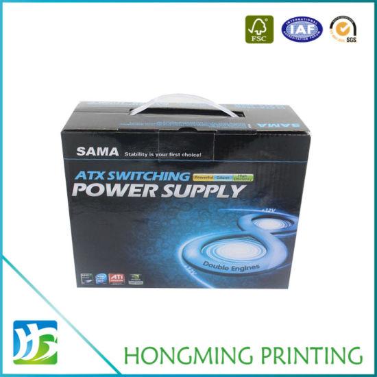 Heavy Duty Cardboard Plastic Handle Electronic Packaging Box