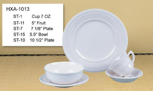 20PC Round Shape Ceramic Dinner Set with Colored Line pictures & photos