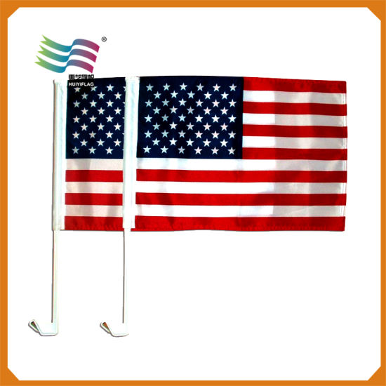 China Promotion Screen Printing Custom Polyester Car Flags