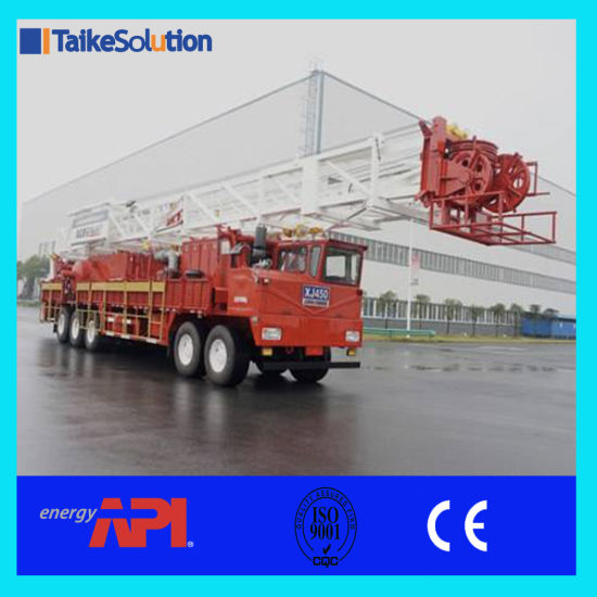 Xj 750 (150 T 750 HP) Mobile Drilling Rig/Hydraulic Work Over Rig for  Oilfield