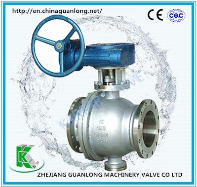 Metal Seat High Temperature Wearable 2 Way Ball Valve