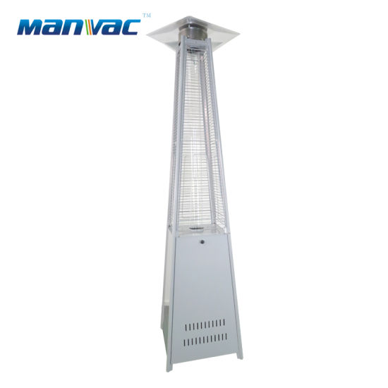 Garden Sun Pyramid Flame Lp Gas Heater Outdoor-White