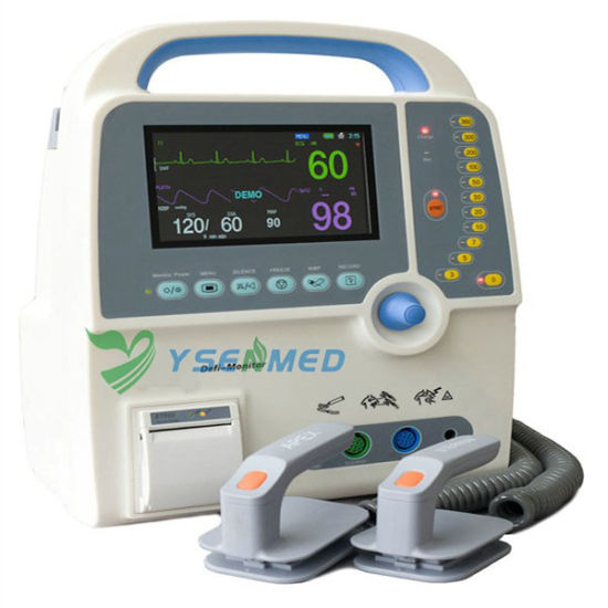 Medical Ys-8000c Portable Cheap Biphasic Defibrillator Aed pictures & photos