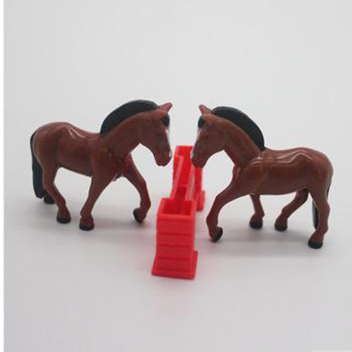 High Simulation Cute Plastic Mini Animal Horse Toy for Promotion