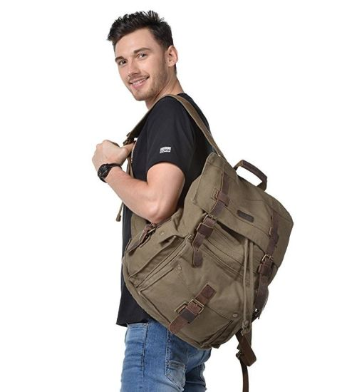 Large School Bag Casual Bookbag Travel Hunting Canvas Rucksack Backpack pictures & photos