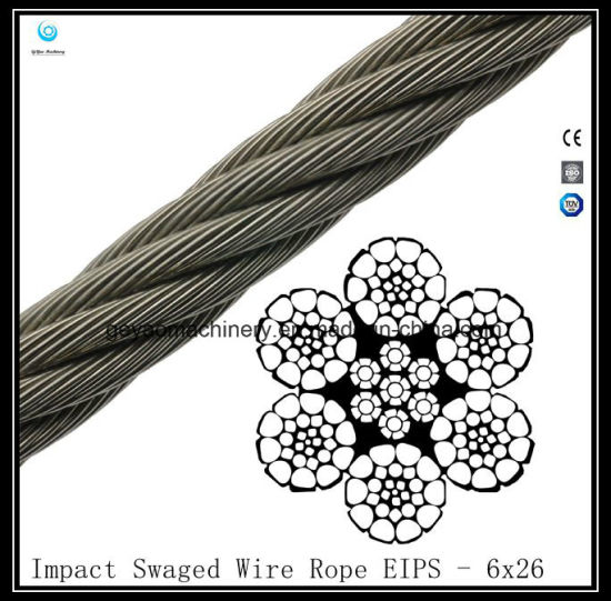 China 6X26 Iwrc Impact Swaged Wire Rope Eips - China Wire Rope ...