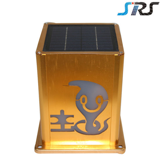 Ce Approved Custom Designs Solar Outdoor LED Wall Lamp Wholesale Best Selling Use Lithium Rechargeable Battery pictures & photos