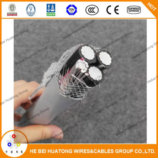 UL854 Certificate 8wg 6AWG 2AWG 4AWG Ser Cable Two Conductor with Bare Ground