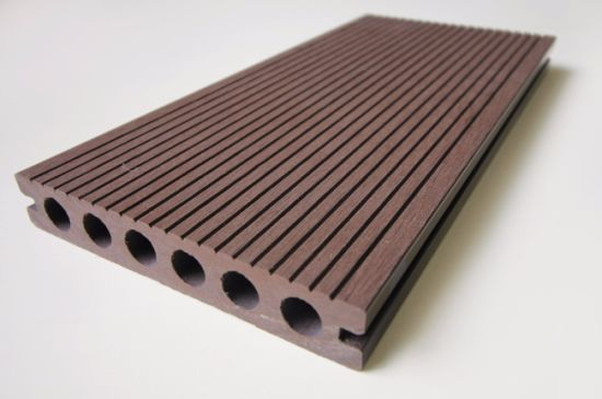 Outdoor Patio/Terrace Composite Hollow Decking, Wood Plastic Composite Board