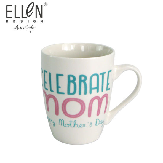 12oz Promotional Gift Water Bottle Ceramic Coffee Mug for Mother's Day