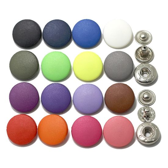 Button Covering Kits Birch 50 sets Size 17mm No Tool