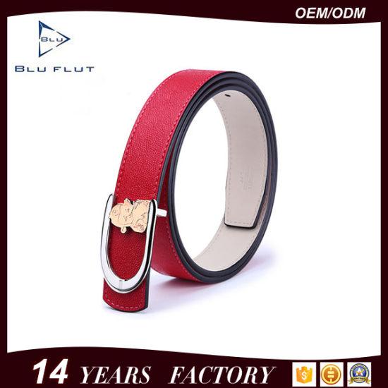 Fashion Custom Buckle Women's Belt Genuine Leather Lady Belts