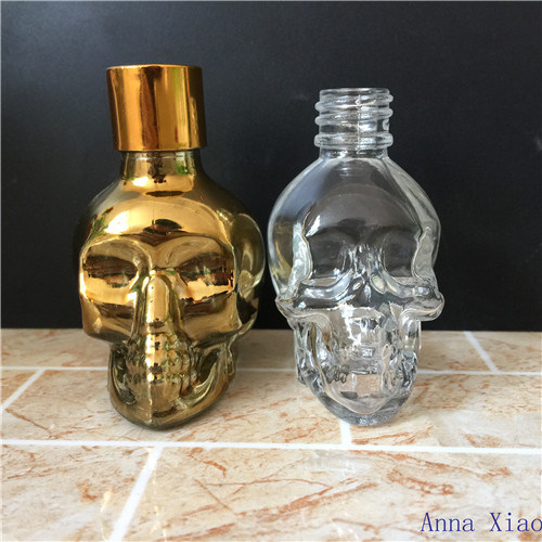 40ml Skull Glass Bottles on Sale pictures & photos