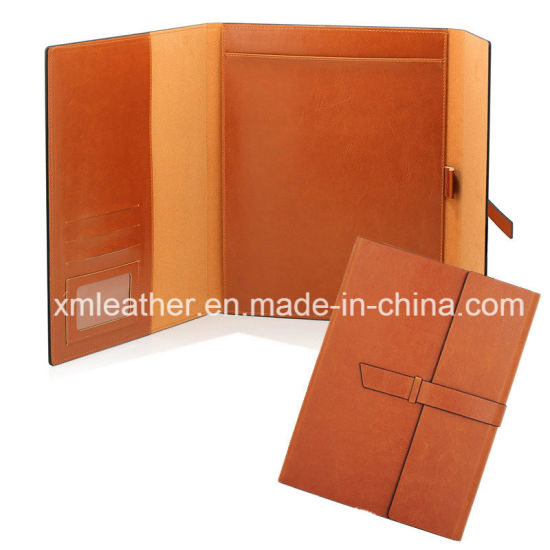 china 2017 new arrival leather trifold planner file folder china