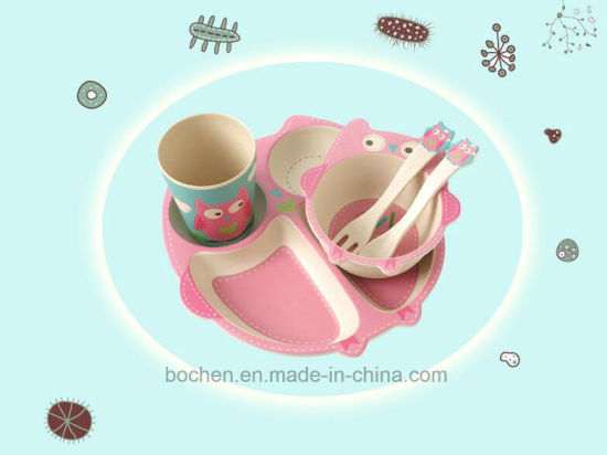 BPA Free Bamboo Fiber Tableware Kids Dinnerware Set (BC-BB-SU2009) pictures & photos