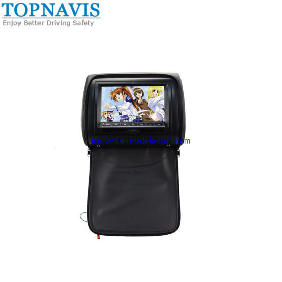Car 7 Inch Headrest DVD Player with Pillow pictures & photos