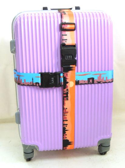 China Printed Jacquard Polyester Nylon Luggage Strap with Plastic ... d46da7593197b
