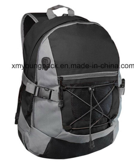 Fashion Black 600d Polyester Sports Backpack Bag pictures & photos