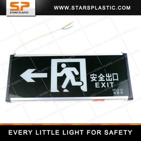 EL-A57-Single-Left Fire Emergency Light Acrylic Emergency LED Exit Light