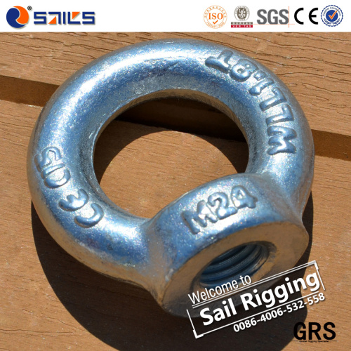 GALVANIZED STEEL LIFTING EYE NUTS various sizes DIN 582 connect ropes or chains