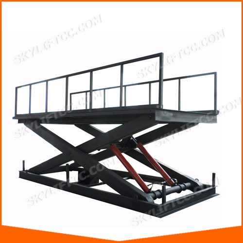 Hydraulic Electric Scissor Warehouse Cargo Car Lift pictures & photos
