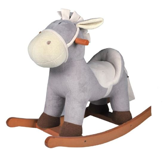 Wooden Rocking Horse- Grey Donkey/ Baby Toy/ Rocking Toy pictures & photos