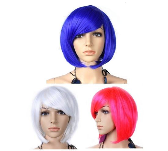 Ladies Santa Fashion Party Wig, Synthetic Fibre Wig