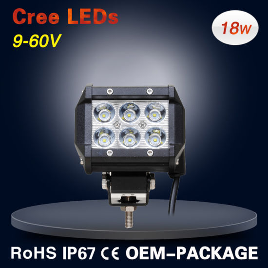 "12V 4"" Double Row Cheap Aurora off Road LED Work Light Bar Auto Lamp Driving Light pictures & photos"