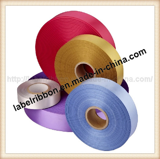White Color Woven Edge Polyester Satin Ribbon (Single / Double Side) pictures & photos