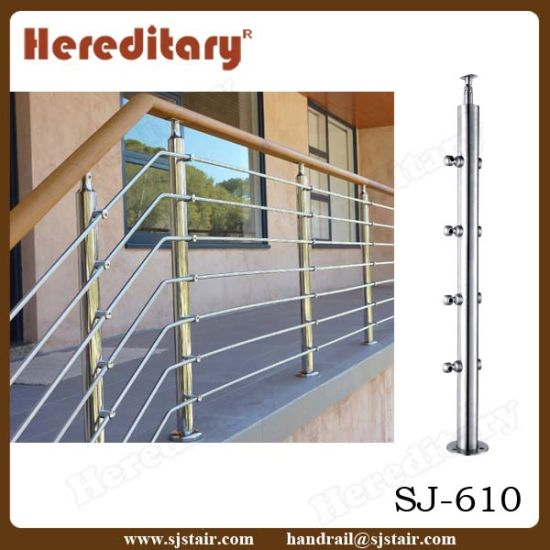 Exterior Stainless Steel Terrace Railing Within Cable Wire (SJ-H080) pictures & photos
