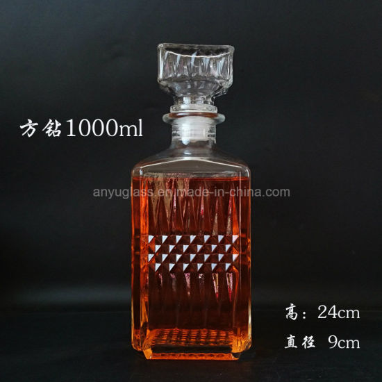 Customize Decal Logo Hot Stamping Superior Glass Liquor Bottle pictures & photos