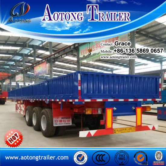 Bulk Cargo Trailer, Side Board Semitrailer, Side Boards Flatbed Semi Trailer, Flatbed with Side Wall, Open Side Board Cargo Semi Trailer, Sidewall Semi Trailer, pictures & photos