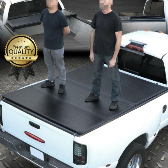 Hard Folding Tonneau Cover - Nissan Titan 5.7FT Pickup Truck Bed Cover