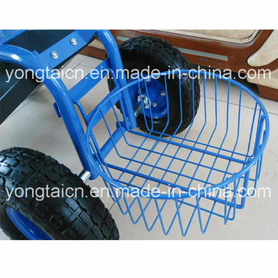 Garden Tractor Scoot With Round Basket