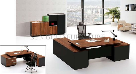 Captivating 2015 New Design High Quality Office Desk, CEO Executive Melamine Wooden Office  Furniture (SZ