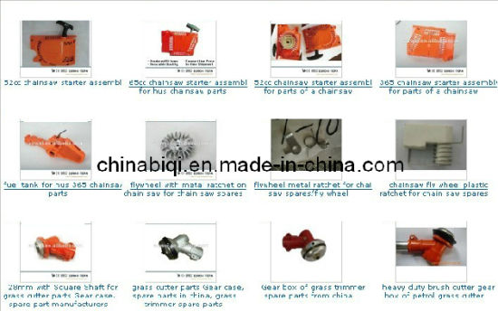 Chain Saw and Brush Cutter Spare Parts: Trimmer Head, Spacer, Blade