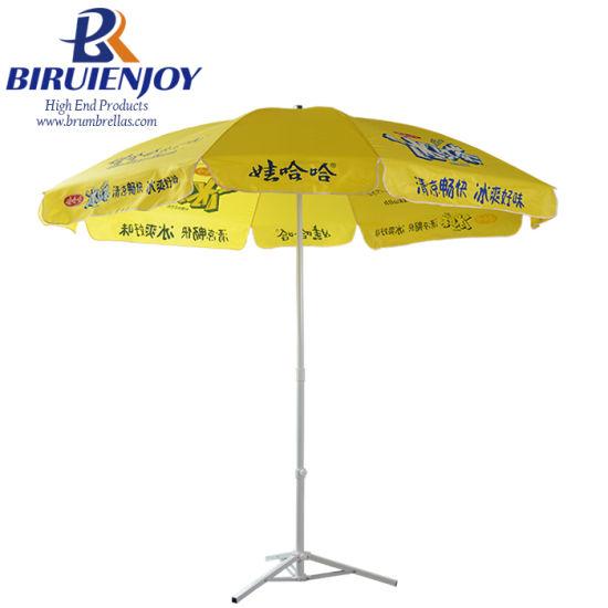 Strong Quality Outdoor Customized Advertising Market Parasols Beach Umbrella