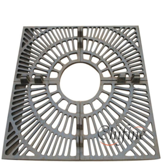 China Customized Metal Tree Protection Grate With Cast Iron China Tree Protection Grate Drainage Gully Grate