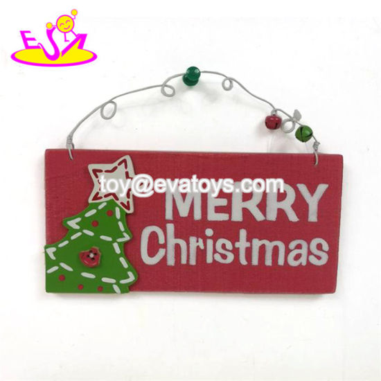 Wholesale Cheap Wooden Christmas Wall Decor with Customize W09d037