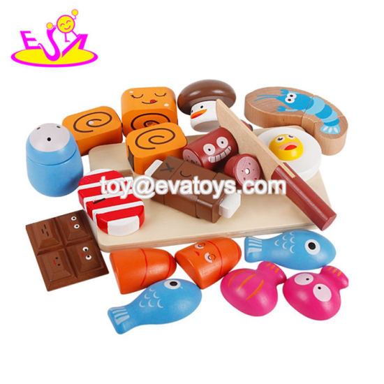 New Hottest Cutting Meal Vegetables Wooden Pretend Play Food for Children W10b233