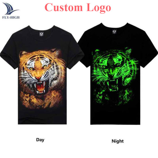 Factory Custom Printed Fashion Night Glow T Shirt in Your Own Style pictures & photos