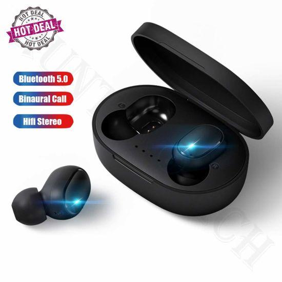 A6s Tws in-Ear Super Bass Mi Durable Wireless Earphone with Mic