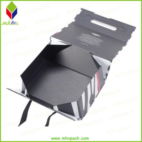 Rigid Cardboard Flat Folding Magnetic Paper Packaging Box