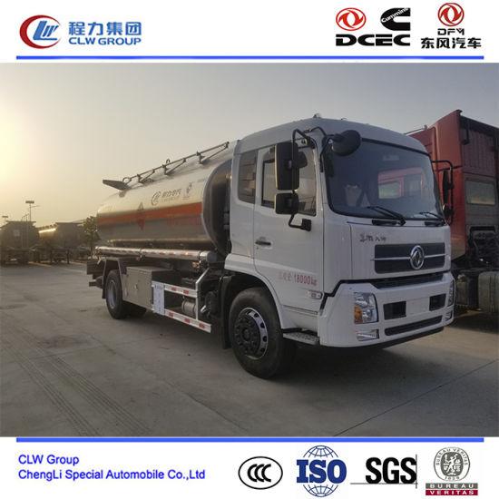 10000~15000 Liter Stainless Steel Fuel Tank Truck, Ss Refueling Tanker Truck