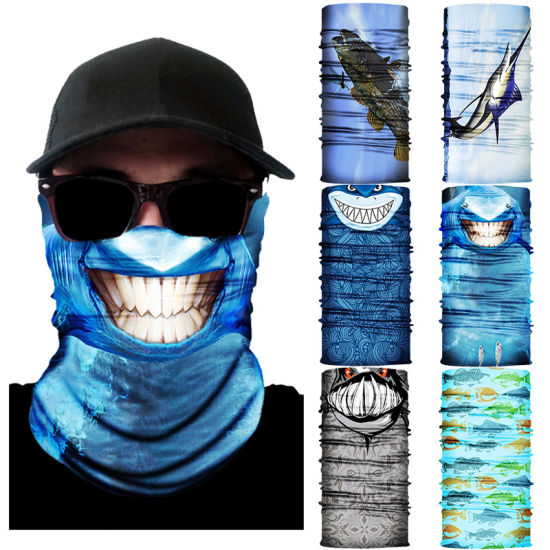 Cheap Stylish Silk Head Scarf Hiking Marine Life Pattern Custom Bandanna