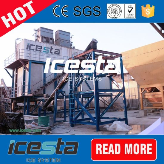 Automatic Containerized Flake Ice Machines with Storage Container