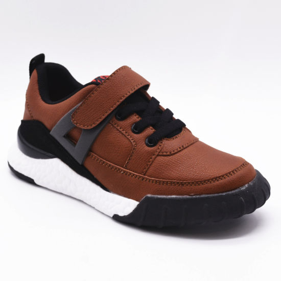 Hot Sale Lightweight Breathable Sports Running Leather Casual Mesh Shoes