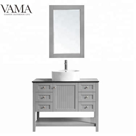 Vama 42 Inch Wholesale Sanitary Ware Single Sink Rustic Bathroom Furniture 756042