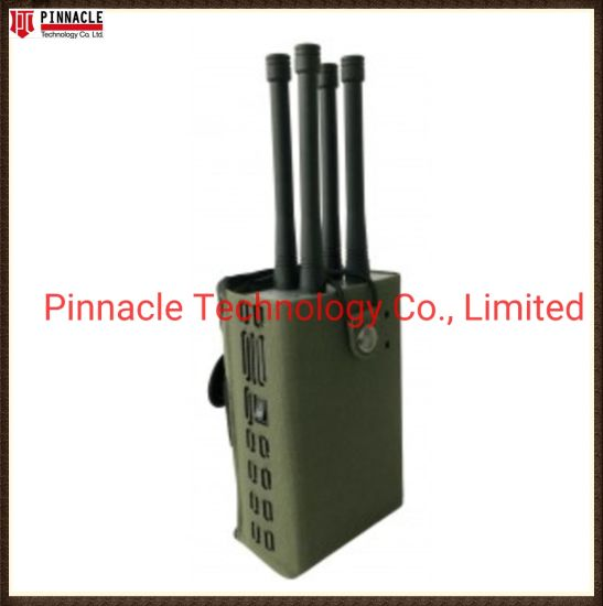 Handheld Portable Anti-Drone Signal Jammer for Blocking WiFi 2.4G+WiFi5.8g+GPS L1-1500MHz with 28W High Power Output